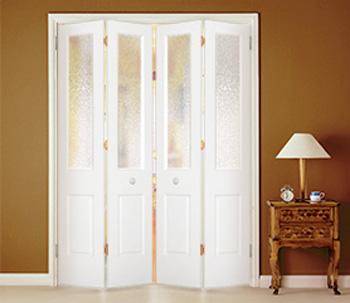 Drzwi łamane składane czteroskrzydłowe